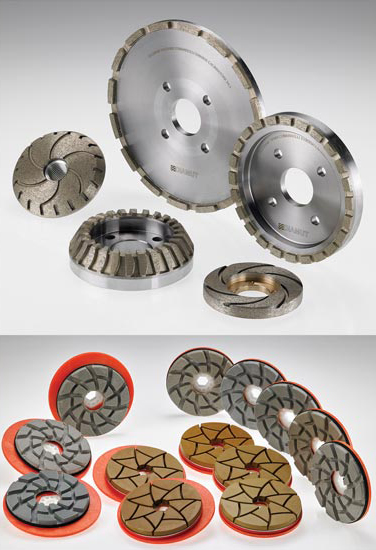Diamut polishing wheels for edge polishing