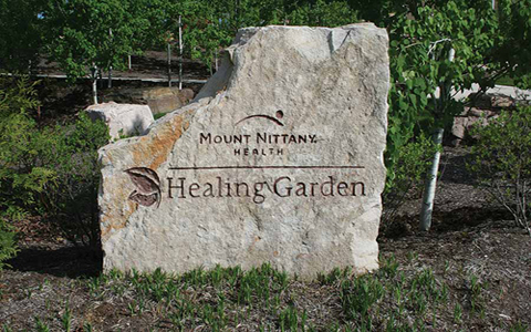 Native Stone Used for Healing Garden at Medical Center in PA