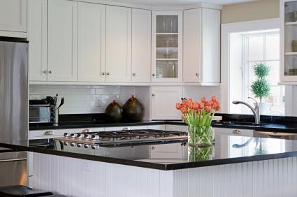 Black Granite Countertops Black Galaxy Granite White Cabinets