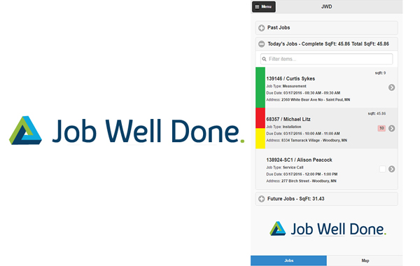Job Well Done field service software program