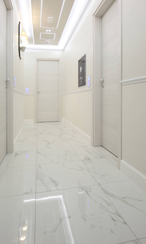Floor and wall tile used for The Moon Boutique House