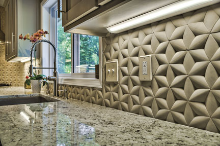 Island Stone Introduces Paragon Hex Sculpted Stone Tiles