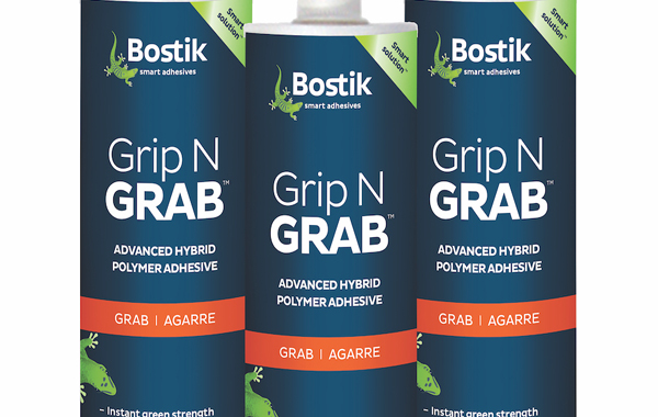 Bostik Introduces 'Grip N Grab,' a Tenacious Time-Saver for Vertical Applications
