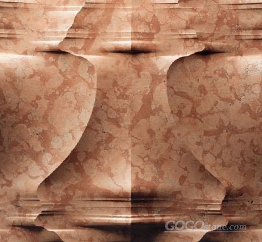 3D roso verona red marble feature wall tile