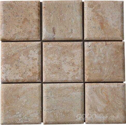 洞石正方形马赛克墙砖()